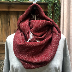 Burgundy Snood Scarf