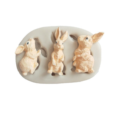 3D Rabbits Mold silicone cake decorating