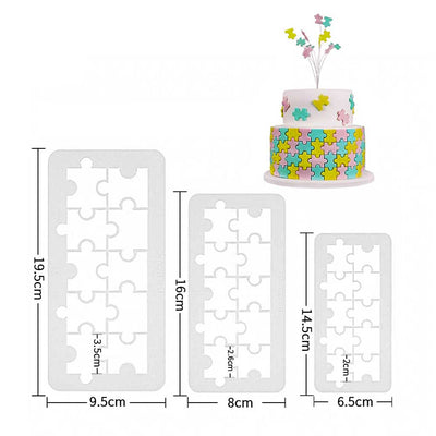 geometry fondant Icing Cutters Puzzle Shapes