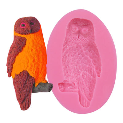 Owl Mold silicone cake decorating