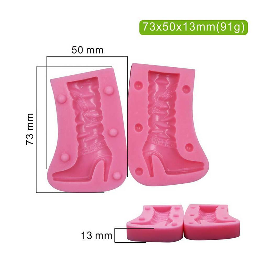 3D Women's Boot Mold silicone cake decorating