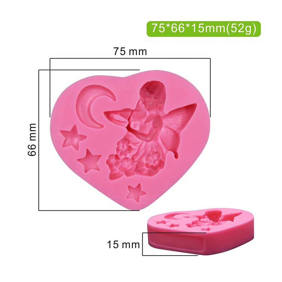 Violin Fairy Mold  silicone cake decorating