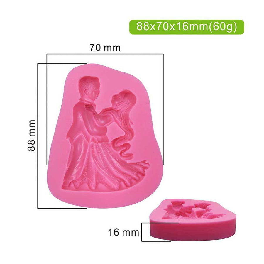 Dancing Prince & Princess Mold silicone cake decorating