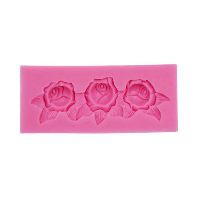 Rose Scroll Mold silicone cake decorating