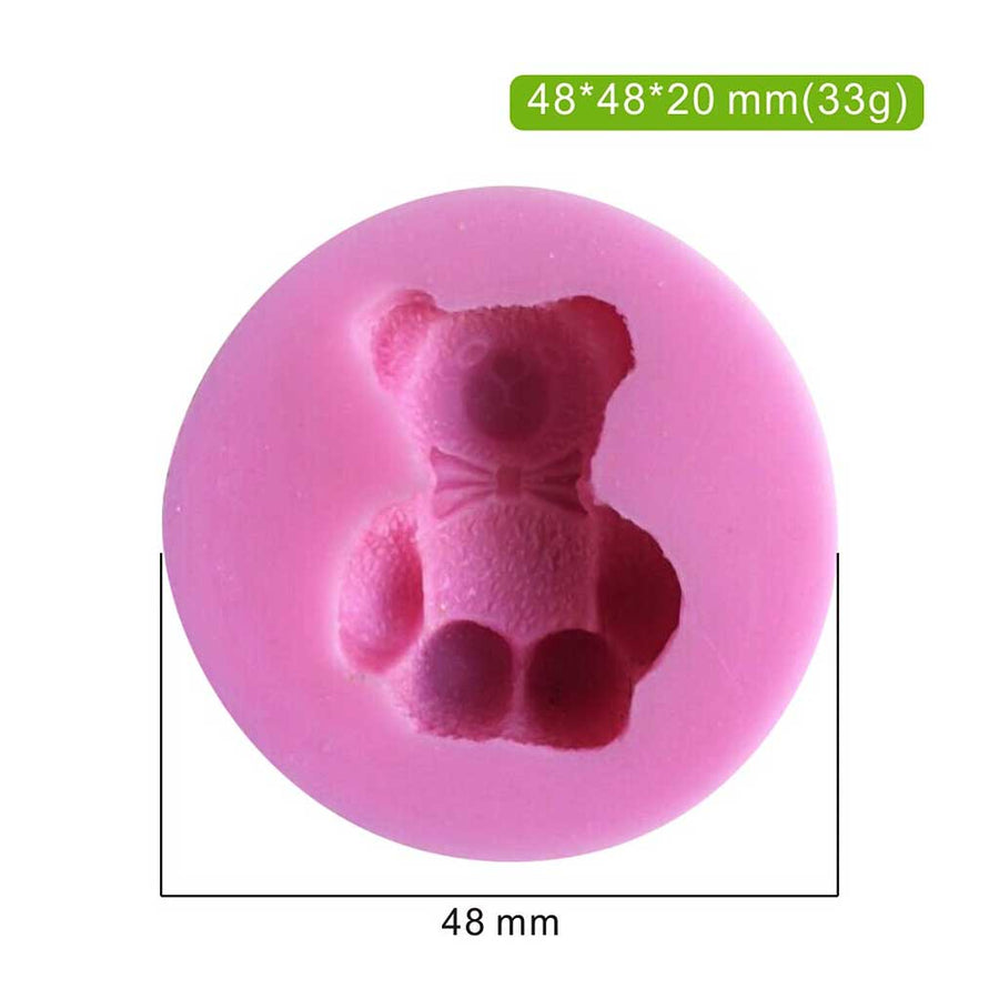 3D Mini Teddy Bear Mold silicone cake decorating