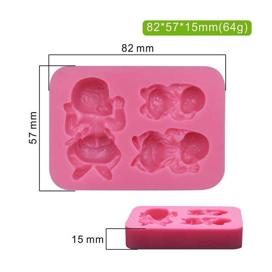 3D Sleeping Baby Mold silicone cake decorating