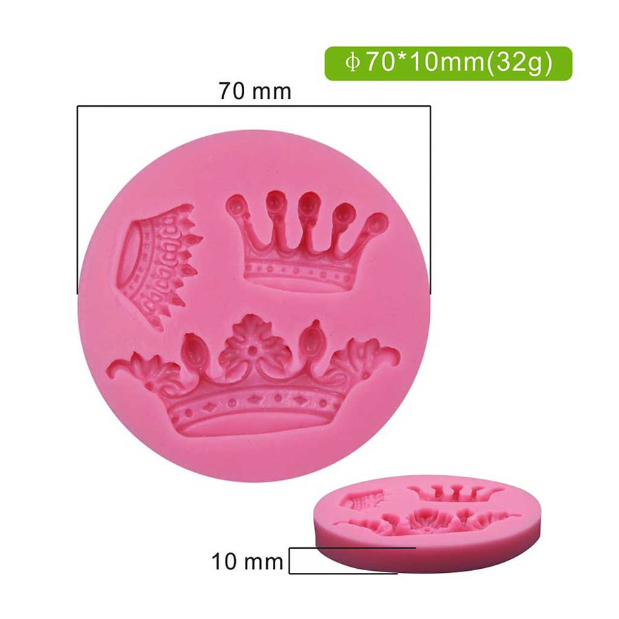 Mini Royal Crown Set Mold silicone cake decorating