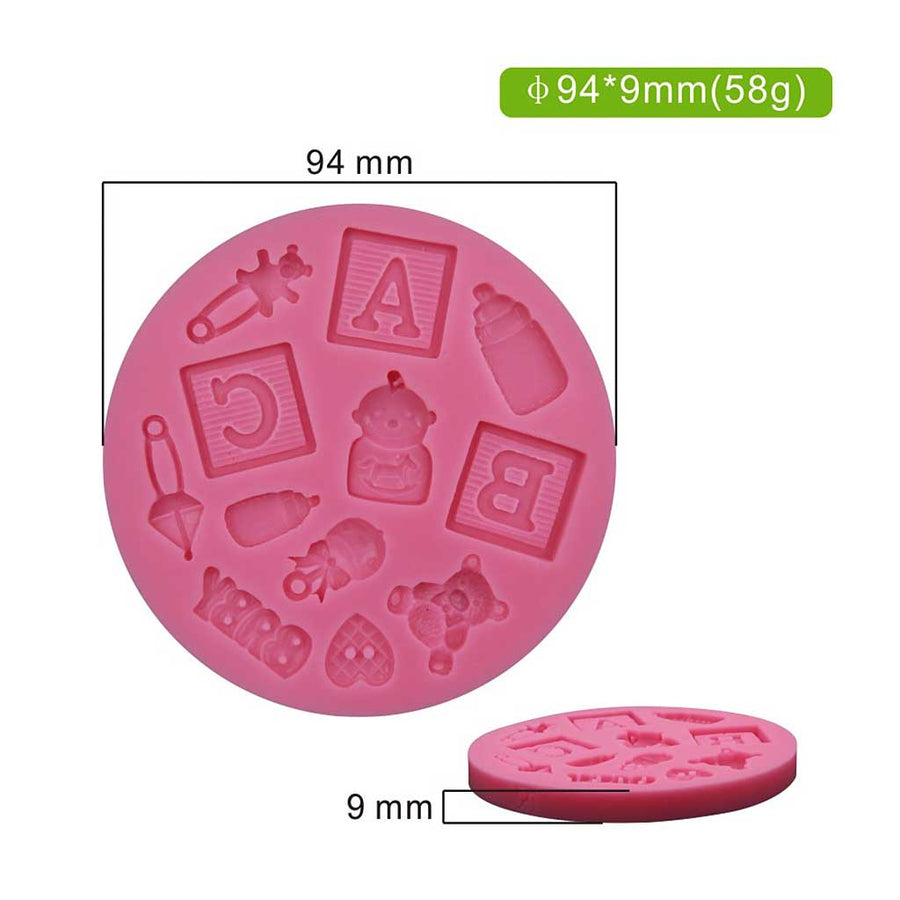 Baby Theme Mold silicone cake decorating