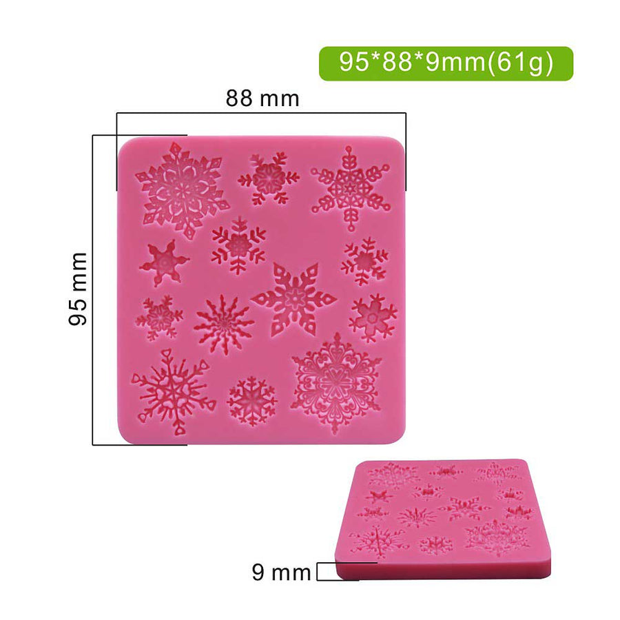 Snowflakes Mold silicone cake decorating
