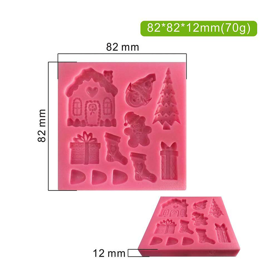 Christmas Theme Silicone  Mold cake decorating cake decorating
