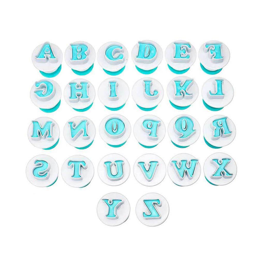 Easy Push Uppercase Lowercase Alphabet Letters & Numbers Plunger Set