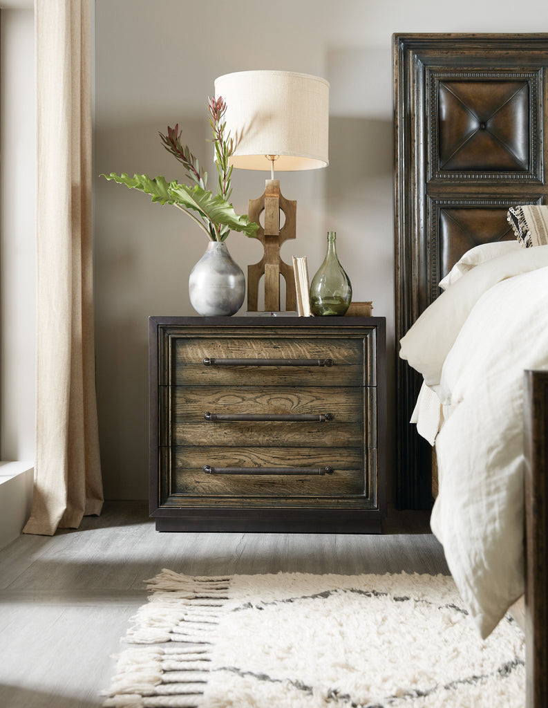 Crafted Metal Wrapped Three-Drawer Dresser