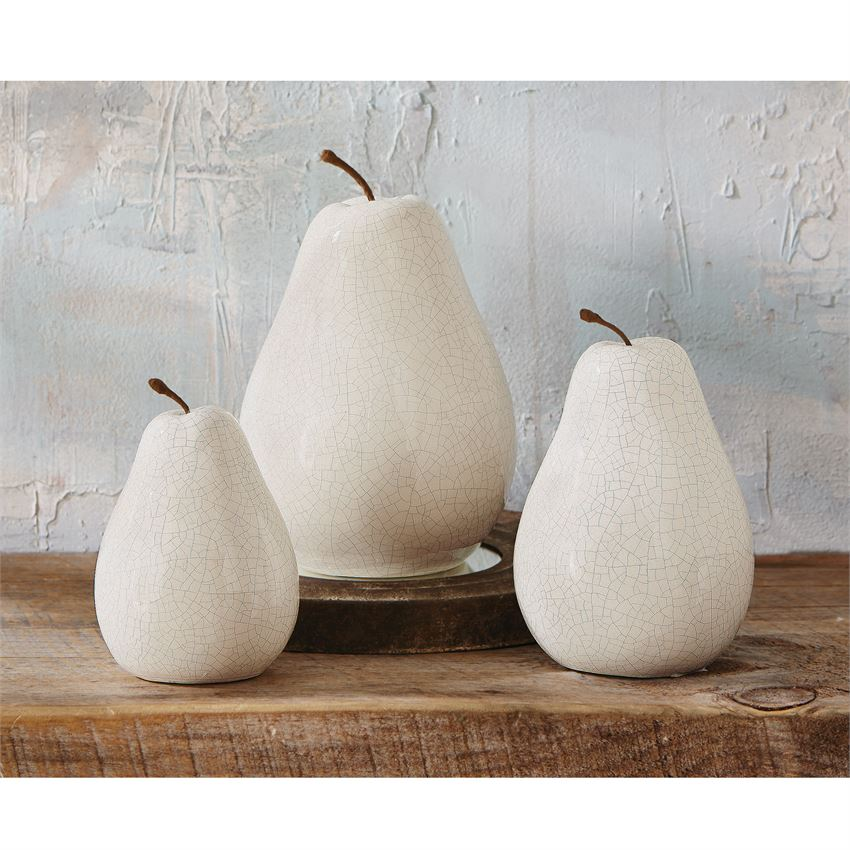 White Ceramic Pears