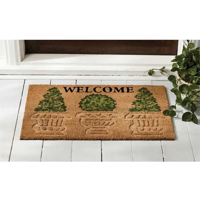 Welcome Topiary Doormat