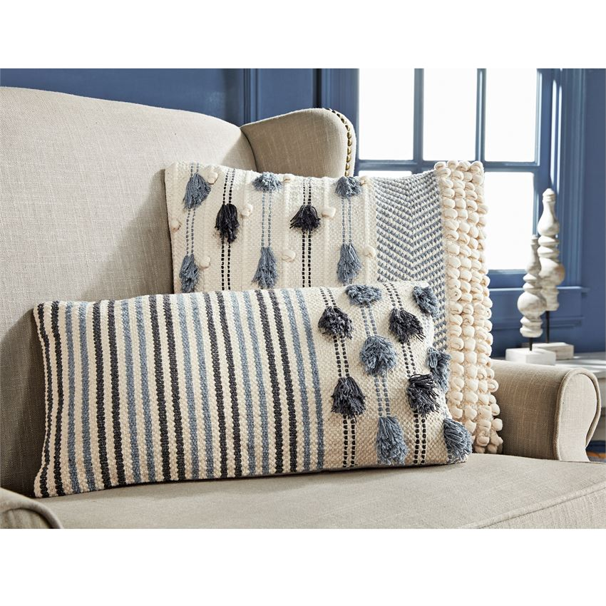 Knotted Tassel Pillows
