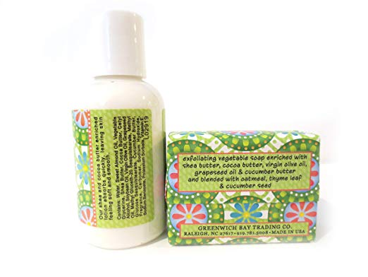 Cucumber Freesia Shea Butter Soap and Lotion Gift Set