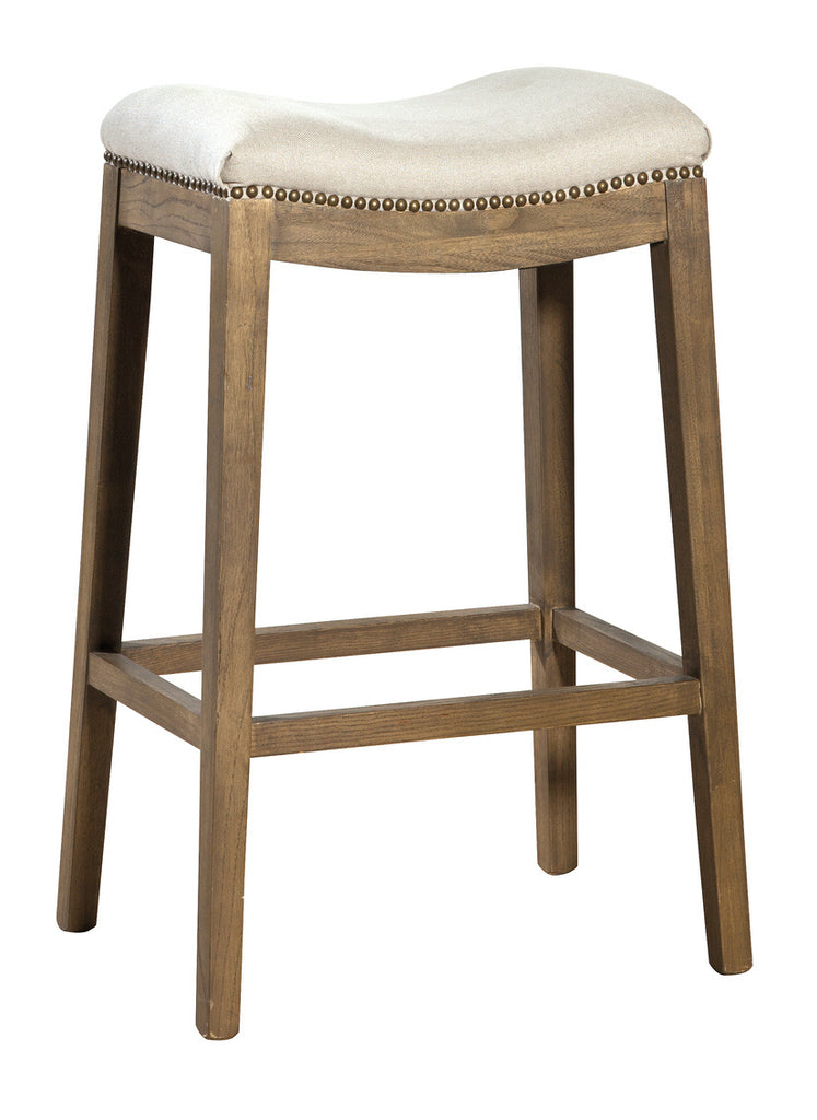 Linen Backless Bar Stool