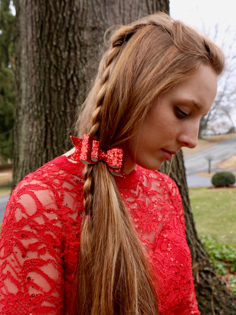 Kayla Red Sparkle Headband