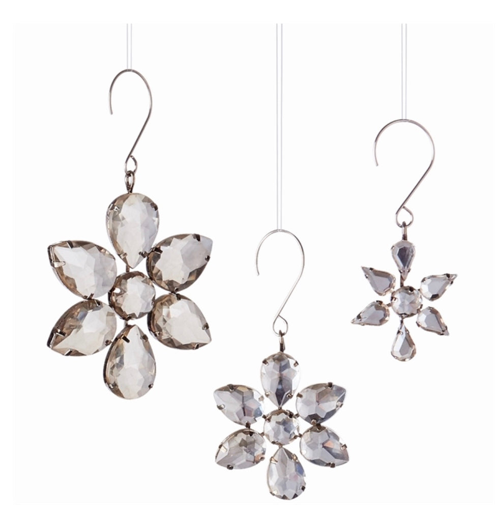 Jeweled Mini Brooch Ornaments S/3