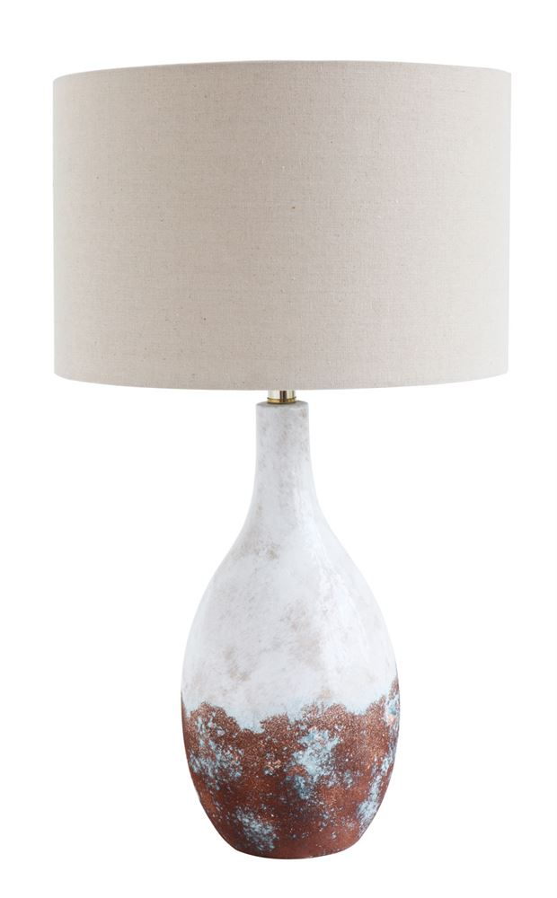 Ceramic Table Lamp w/ Linen Shade