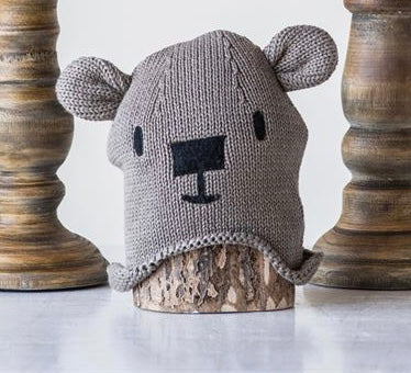 Cotton Knit Bear Hats