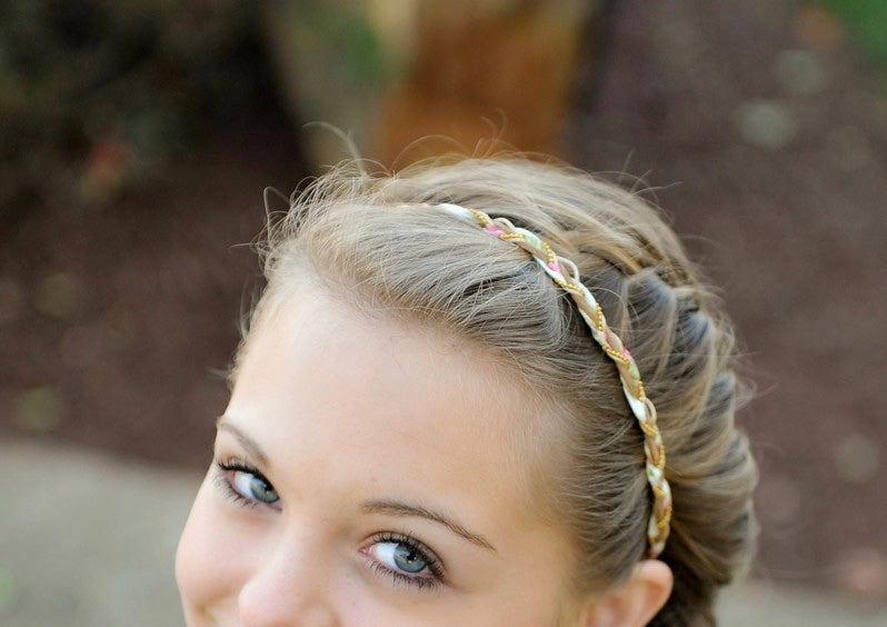 Aila Pink & Gold Headband