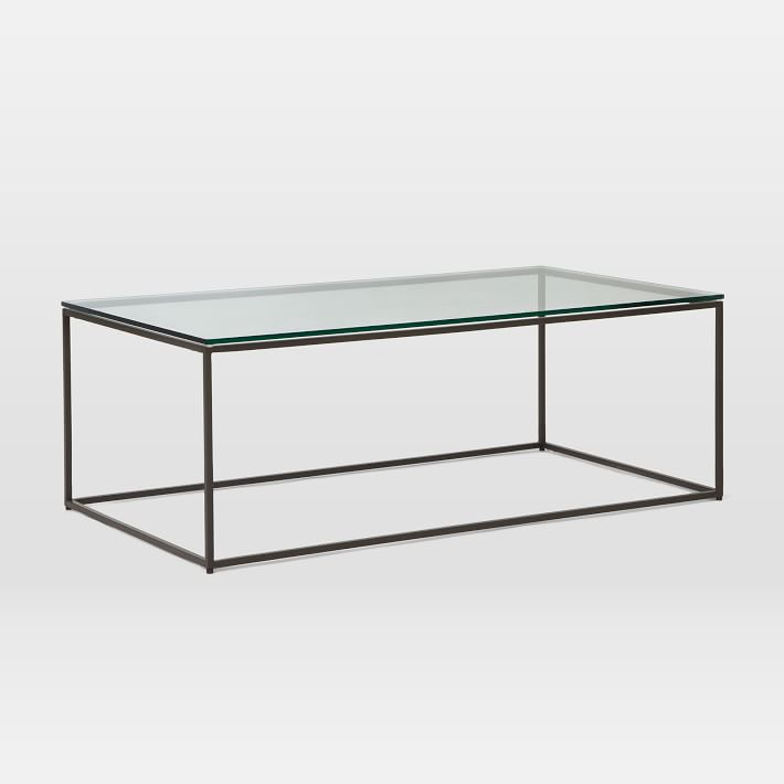 Box Frame Coffee Table   Glass/Antique Bronze. Box Frame Coffee Table    Glass/Antique Bronze