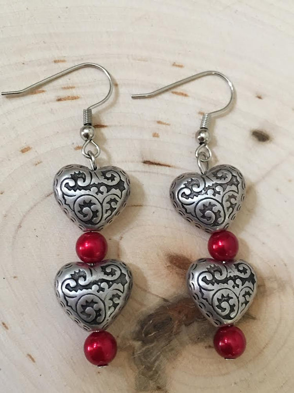 Vintage Hearts Earrings - Paris Jewelry Boutique