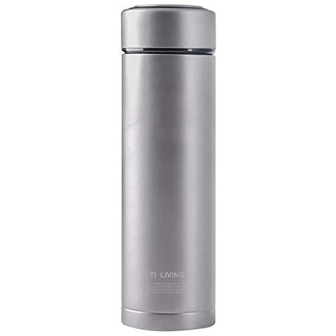 Airsee Tiliving Titanium Thermos Water Bottle with Tea Leaf