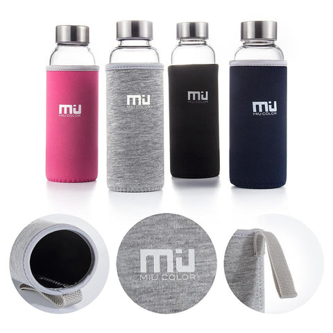 water bottle with food-grade rubber ring