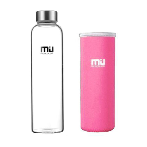 pink water bottle with food-grade rubber ring