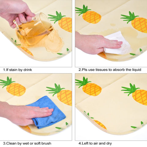 use the tissue or towel to absorb the liquid