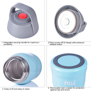 Miucolor food jar with Vacuum Insulation Technology