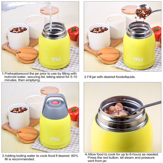 Miucolor Food Jar could be filled with glacial ice or boiling water