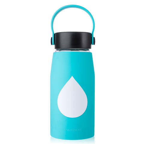 Glass Water Bottle of Shatter Resistant (18oz)