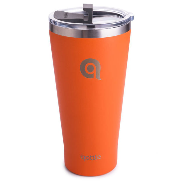 Qottle 30oz Sport Water Bottle Orange