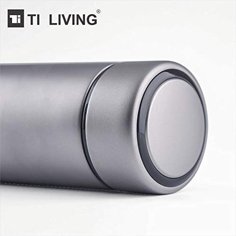 Thermos Water Bottle with Tea Leaf