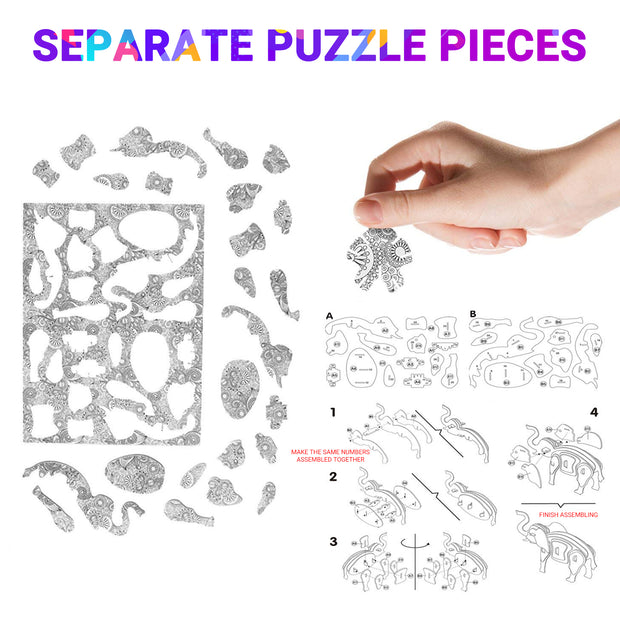4 pack 3D puzzle set for kids