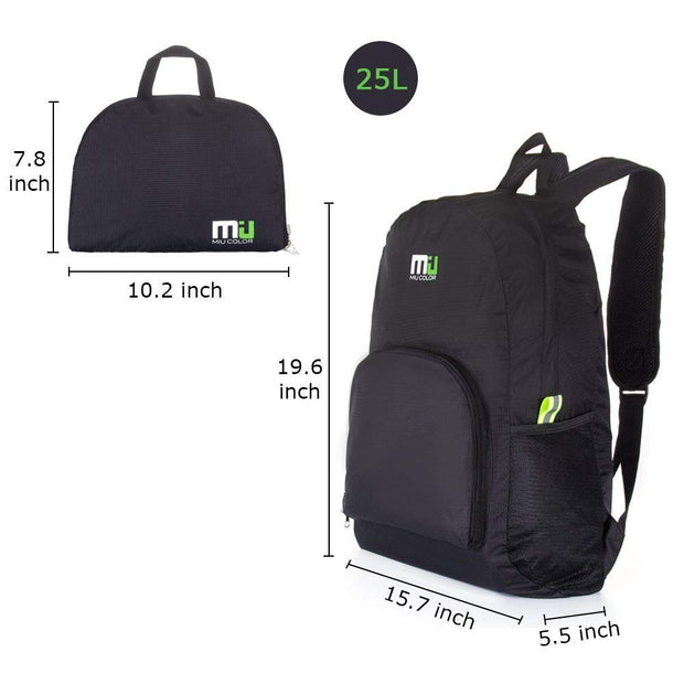 Miucolor Backpack that Folds into zippered inner pocket