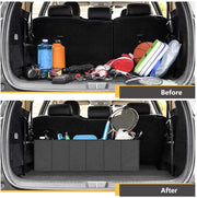 Expandable Large Foldable Car trunk organizer with Strap Handle