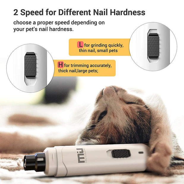 Black Rechargeable Pet Nail Grinder(New Version)