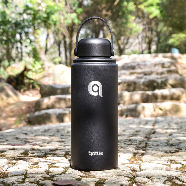 Qottle 32oz Sport Water Bottle Black