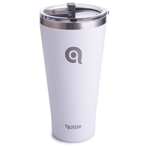 Qottle 30oz Sport Water Bottle White