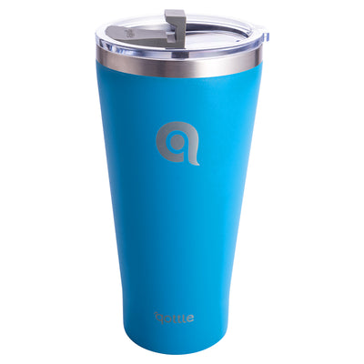 Qottle 30oz Sport Water Bottle Blue