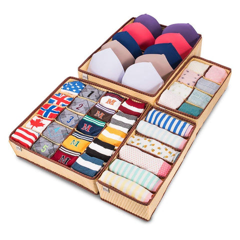 Foldable Drawer Organizer, 4 Set