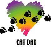 Cat Dad, Paw Prints (Tees, Sweatshirts)