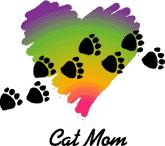 Cat Mom, Paw Prints (Tees, Sweatshirts)