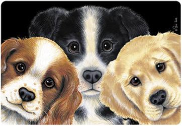 Peeping Puppies Placemat