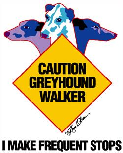 Greyhound Walker-Blue Tote