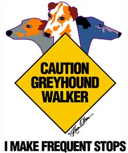 Greyhound Walker-Orange Tote